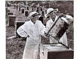 два пчеловодана пасеке